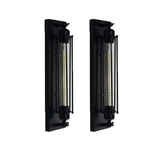 Pouluuo Applique de flûte en fer forgé antique lampe de salle de couloir/couloir industriel industriel rétro / 450 * 100cm