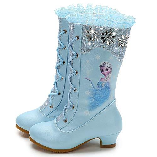 YOGLY Zapatos de Princesa de Bowknot Zapatos de Tacón Alto de Moda para Niñas Zapatilla de Baile Princesa Zapatos de Tacón Alto Fiesta Sandalias para Niñas Brillante Princesa Zapatilla de Baile