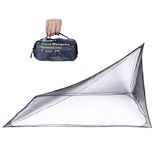 4Monster Mosquito Camping Insect Net with Carry Bag, Compact and Lightweight, Fits Bed,Sleeping Bags,Tent (Double)