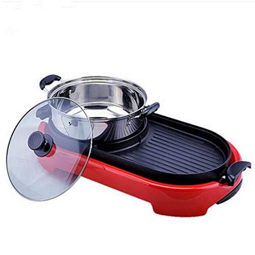 220V Multifuncional Antiadherente Eléctrico Barbacoa de la Máquina de Cocinas Calientes sin Ahumado Portátil Pan para la Familia al aire libre Fiesta