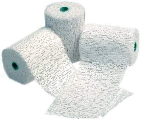 Lexicon Select White Modroc Plaster of Paris Papier Mache Class Pack 8cm x 3m Rolls for Kids Modelling Pack of 3 with Hints & Tips Guide
