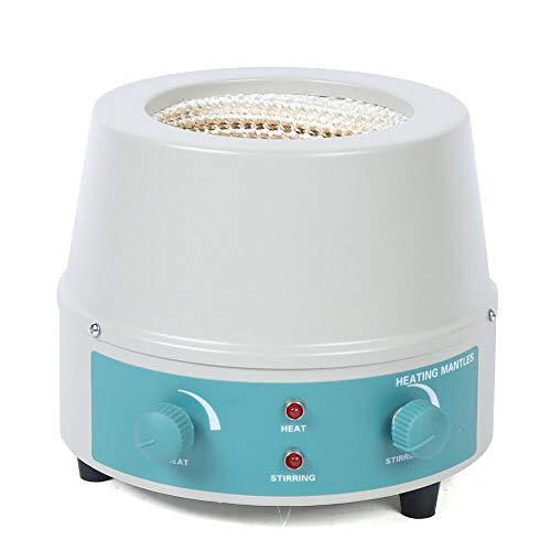 500 ml de calentador de laboratorio, calentador eléctrico, cubierta calefactora eléctrica, agitador magnético para pistón redondo, calentador de estufa, temperatura máxima de 450 °C