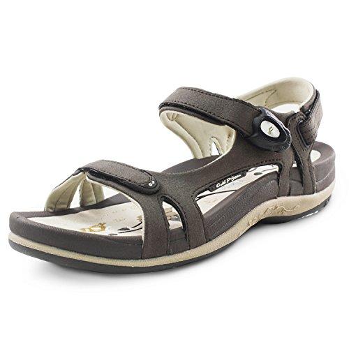 Gold Pigeon Shoes GP Signature SNAP Lock Sandals for Women: 9179 Brown, EU38 (US...