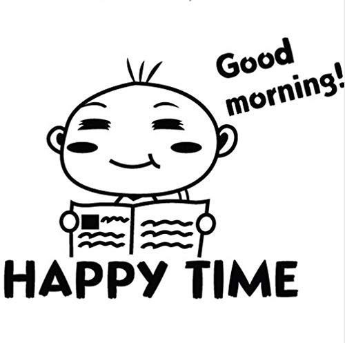 Adorable cara sonriente pegatinas De baño decoración De pared DIY vinilo niños hogar calcomanía Mual artes carteles impermeables
