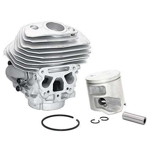 LIBEI Kit de pistón cilindro 46 mm para Husqvarna 555 556 560 560XP 560XPG 562 562XP 562XPG motosierra 575355805 575355802 575355806