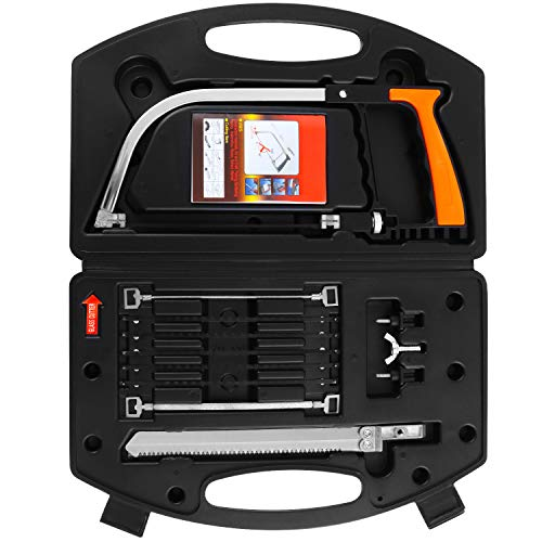 WiMas 12PCS Hand Bügelsäge Set, Multifunktionssäge Hacksäge, Bogensägen, Metallsäge Fliesensäge für Kunststoff, Glas, Fliesen, Holz