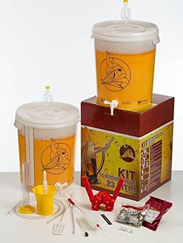 Kit Fermentazione Birra Lux Beer&Wine con Un Malto Birra Chiara e la Tappatrice