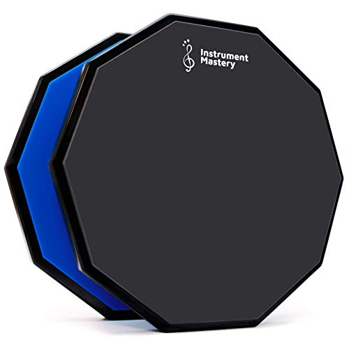 Drum pad - Snare drum practice pad for developing your percussion drumming skills – Drumpad with realistic feel for beginner and advanced level drummers – Pads that let you practice silently anywhere