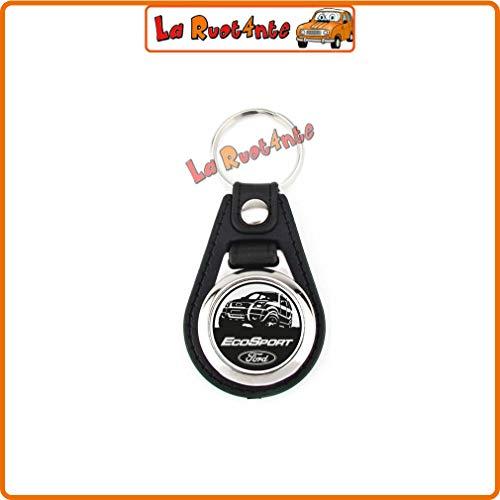 La Rad 1 Schlüsselanhänger kompatibel mit Ford Ecosport aus Tam und verchromtem Stahl