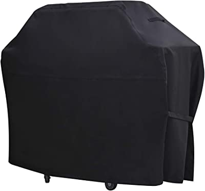 BBQ Grill Cover 55-inch, Large 600D Heavy Duty Waterproof Barbecue Gas Grill Cover, UV and Fade Resistant Authentic Oxford Material, Fits Weber Char-Broil Nexgrill Brinkmann Grills and More (55 inch)