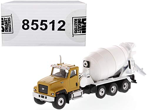 CAT Caterpillar CT681 Concrete Mixer Yellow and White High Line Series 1/87 (HO) Scale Diecast Model by Diecast Masters 85512