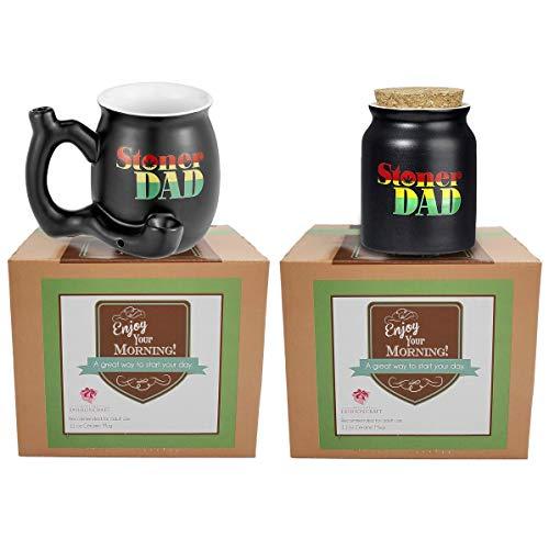 FashionCraft 82501 Stoner Dad and Stash Jar Bundle in Stylish Rasta Print