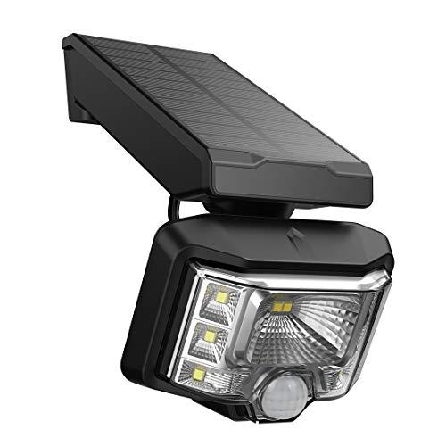 Solarstrahler, Veofoo Einstellbares Solarlicht mit Bewegungssensor 8LED Wasserdichte Sicherheitsleuchte für Garten, Hof, Auffahrt, Zaun (1piece)
