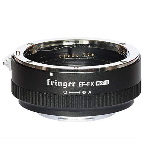 EWOOP EF-FX PRO II Fringer Auto Focus Mount Adaptateur Ouverture électronique intégrée pour Canon EOS EF Sigma Tamron Objectif Fujifilm Fuji caméra X-T4 X-Pro3 X-T200 X-A7 X-T100 X-T30 XH1 XT3 X-E XT2