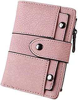 2019 Women Simple Retro Rivets Short Wallet Coin Purse Card Holders Handbag carteira Feminina Purse Men 25