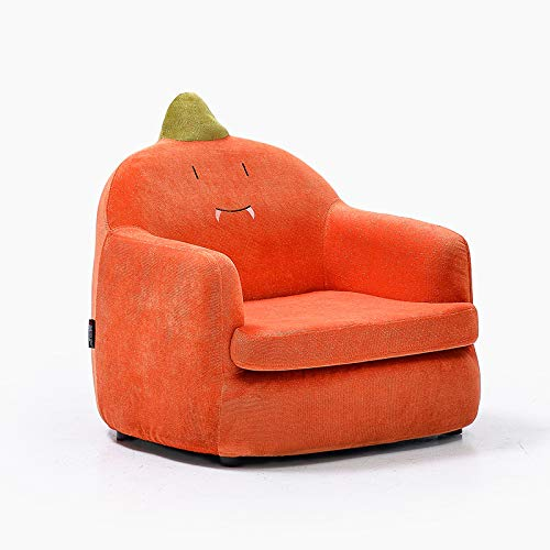 Ready Steady Bed Childrens Toddlers Sponge Linen/Flannel Armchair Girl Boy Schlafzimmer Playroom Seating Sofa Chair,Orange-reddinosaur(flannel)