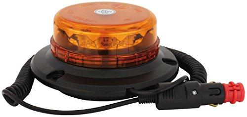AdLuminis LED Rundumleuchte Orange Micro Mit Magnetfuß,12V und 24V Spannung, Blinkleuchte Warnleuchte Für Straßenverkehr KFZ