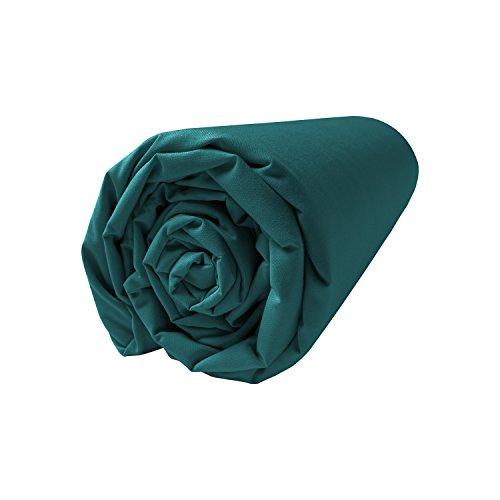 BLANC CERISE Drap Housse en Percale, Bonnet 30 140 * 200 cm
