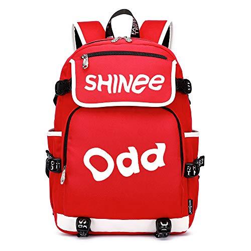 Shinee Rucksäcke Schulranzen Rucksack Wandern Tasche Daypack Trekkingrucksack Mann und Damenmode Mode Sport Wild Style Shinee Backpacks (Color : Red27, Size : 45 X 37 X 16cm)