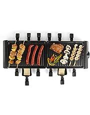 LIVOO DOC185 Raclette-apparaat voor 12 personen, 1800 W, zwart