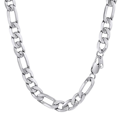 PROSTEEL Collier Homme Acier Inoxydable Chaîne Maille...