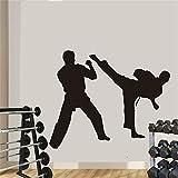 HNXDP Boxe Club Taekwondo Karaté Autocollant Kick Play Autocollant De Voiture Gratuit Combat Affiches Vinyle Striker Stickers Muraux Décor 58cmX71cm