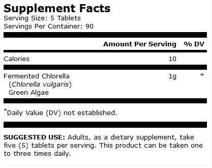 Dr. Mercola, Fermented Chlorella, 90 Servings (450 Tablets), non GMO, Soy-Free, Gluten Free