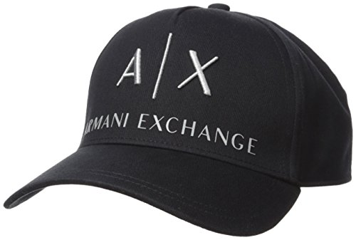 Armani Exchange Herren Corp Logo Baseball Cap, Schwarz (Nero - Black 00020), One Size...