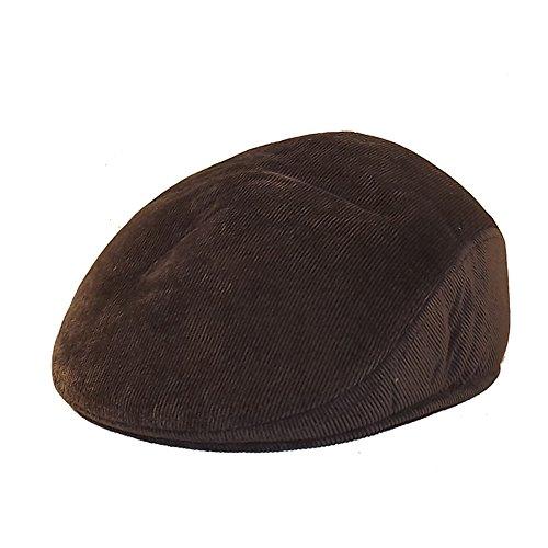 Chapeau-tendance - Casquette Homme Velours Marron Cache-Oreilles - 55 - Homme