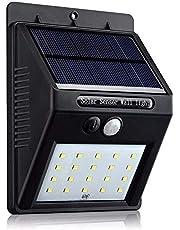 20 LED ضوء الشمس في الهواء الطلق حزمة 4 مصابيح حائط ليلية PIR استشعار الحركة شارع ساحة الطريق الرئيسية حديقة أضواء الأمن توفير الطاقة