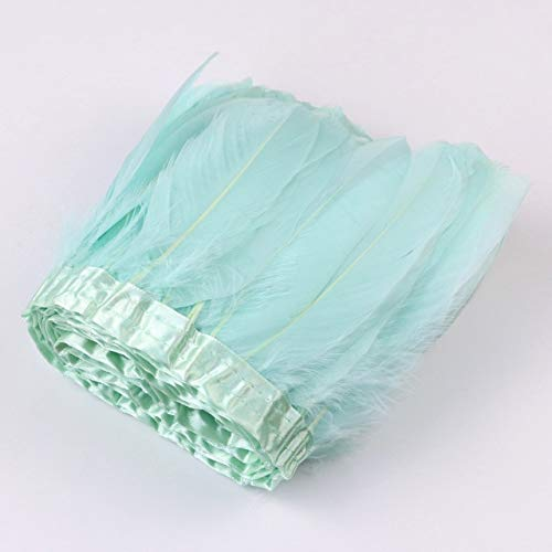LAIY 1 Metro de Plumas de Ganso de Colores Recortadas con Flecos Vestido de Falda decoración de Cinta de Pluma de Gansos Manualidades de Costura a Granel