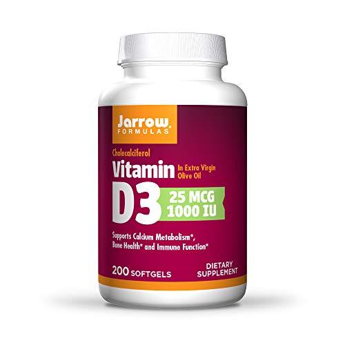 Jarrow Formulas Vitamin D3, 1000 Iu - 200 Softgels 200 unidades 85 g