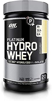 Optimum Nutrition Platinum Hydrowhey Protein Powder 100% Hydrolyzed Whey Protein Powder Flavor  Velocity Vanilla 1.75 Pounds