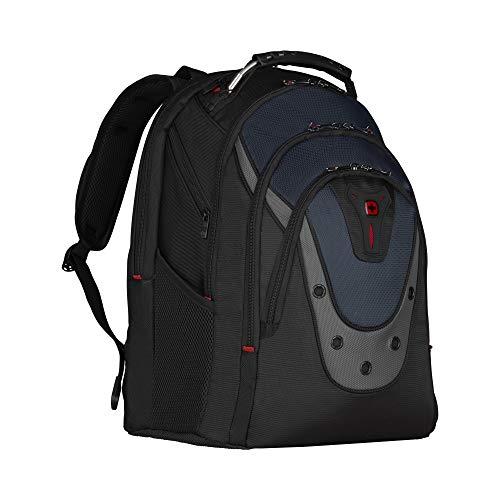 Wenger Ibex Laptop-Rucksack, Notebook bis 17 Zoll, Tablet bis 10 Zoll, 23 l, Damen Herren, Business Uni Schule Reisen, Schwarz/Blau
