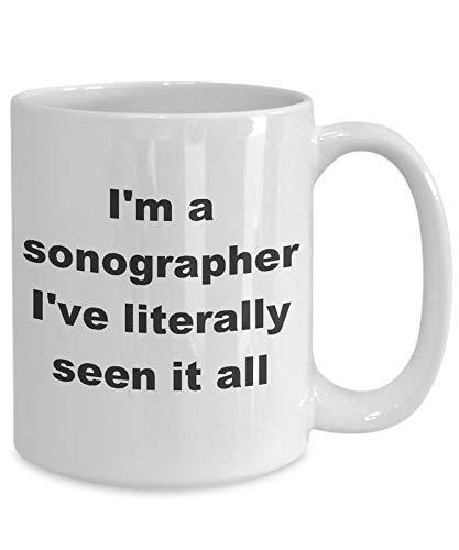 N\A Ecografista - Lo he Visto Todo Novely Taza de café Ecografista Ecografía Profesión de diagnóstico por ultrasonido