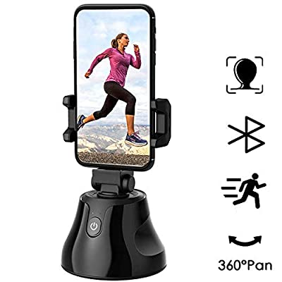 eirix Selfie Stick 360°Rotation Auto Face & Object Tracking Smart Shooting Camera Phone Mount, Vlog Shooting Smartphone Mount Holder (Black)