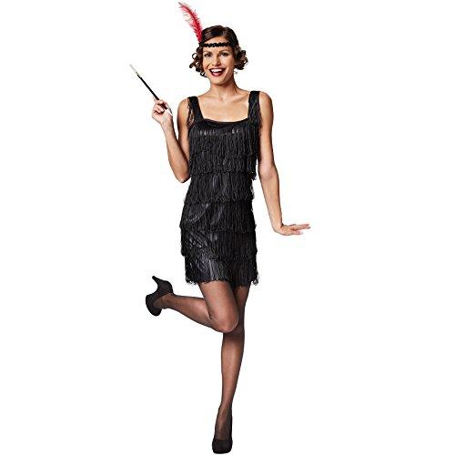 TecTake dressforfun Frauenkostüm Charleston | Verführerisches, kurzes Kleid | Inkl. Haarband mit Feder (S | Nr. 301580)
