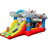 LIUXING Trampolin Rutsche Hüpfburg Aufblasbare Bounce Slide Water Park Bouncy Castle House...
