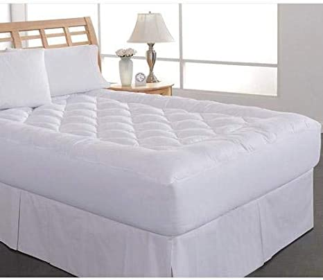White Perfect Fit Queen Diamond Loft Quilted Water Resistant Hypoallergenic Mattress Pad