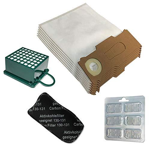 Set mit 6 Mikrofasertüten, 6 Duftstoffen, Hepa-Filter/Epa und Odori für Staubsauger Vorwerk Kobold Vk 130, 131 Sc, Vk130, Vk131