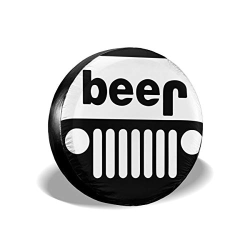 """MXPINK The Beer Has an Interesting Spare Tire Cover, Universal Fit for Jeep,Trailer, RV, SUV, Truck and Many Vehicle, Diameter 14"""" - 17"""", Weatherproof Tire Protectors"""