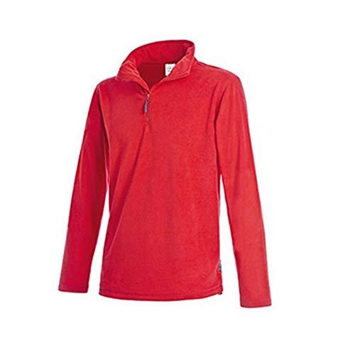 Stedman - Polaire Zip mi-Long Active - Homme (XL) (Rouge)