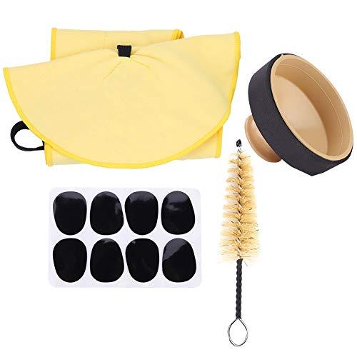 Kits de sax, longa vida útil, material inofensivo pano de limpeza é macio, almofada de dentes de sax, escova de cabelo de porco natural para iniciantes profissionais