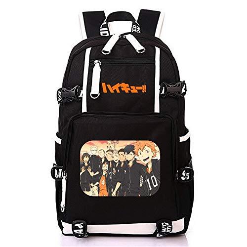 Volleyball Juvenile backpack Haikyuu Haikiyu Karasuno student bookbag printing large laptop bag USB charg (1)