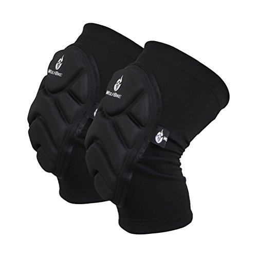 WINOMO Une paire de skis de vélo Football gardien de but Extreme Sports genou rembourrage Genouillères genou protection - Taille XL (Noir)