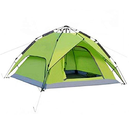 KUSAZ Tent Quick-opening automatic tent, waterproof and sunscreen, suitable for beach, fishing, camping-green_Double
