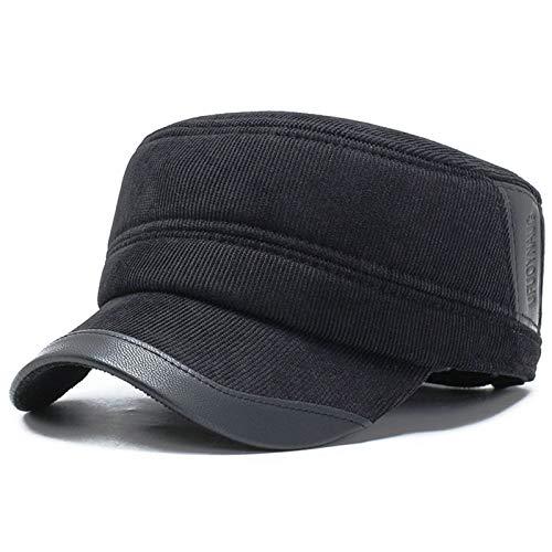 YDHG Boinas Hombres Mens Winter Tweed Cap Newsboy Plana Gatsby Ivy Taxista Sombrero del Golf de conducción Mujeres Boinas (Color : Black, Size : Medium)