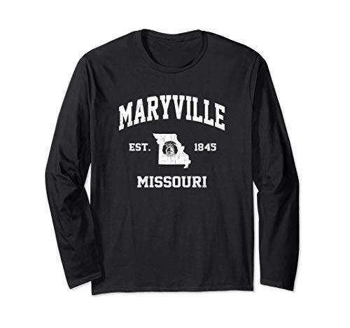Maryville Missouri MO vintage State Athletic style Long Sleeve T-Shirt -  Maryville Missouri Locals & Tourists Shirts