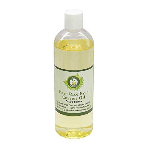 R V Essential Puro Salvado de Arroz del aceite del portador 100ml (3.38 oz)- Oryza sativa (100% puro y natural Fría presionado) Pure Rice Bran Carrier Oil