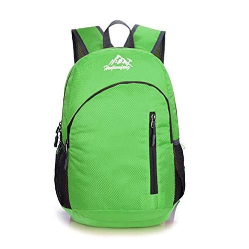 KaiKai Faltbare Rucksack 20L wasserdichter Beutel-Climbing-Rucksack-Rucksack Radfahren Außentasche Frauen Männer Reise-Wandern (Color : Green)